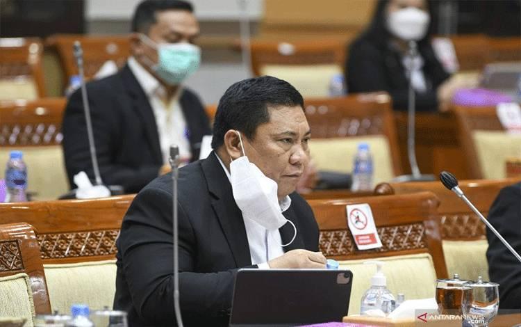 Kepala BNN Petrus R. Golose mengikuti Rapat Dengar Pendapat (RDP) dengan Komisi III DPR di Kompleks Parlemen, Senayan, Jakarta, Kamis (18/3/2021) ANTARA FOTO/Galih Pradipta/wsj. (ANTARA FOTO/GALIH PRADIPTA)