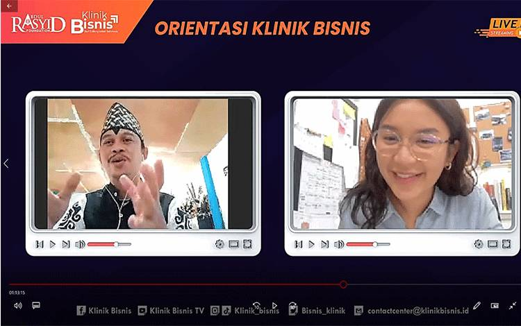 Klinik Bisnis Gelar Pelatihan Daring Bagi 25 UMKM Terpilih di Kalimantan Tengah