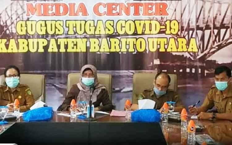 Jajaran Pemerintah Kabupaten Barito Utara mengikuti  rakor persiapan pemerintah daerah dalam mendukung suksesnya pelaksanaan Pemilu dan Pilkada serentak 2024