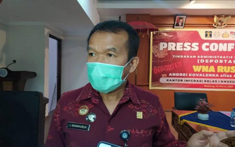 Kepala Kantor Wilayah KemenkumHAM Bali Jamaruli Manihuruk. (Antara/Ayu Khania Pranisitha/2021)