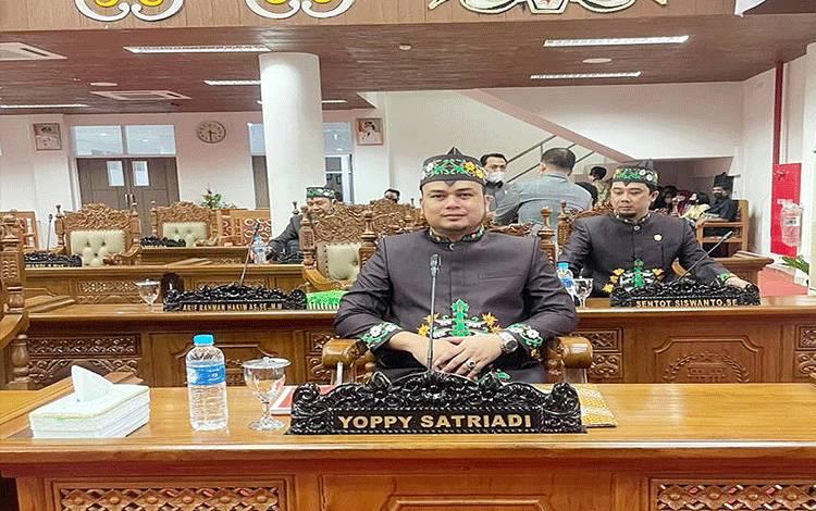 Ketua Fraksi PDIP Perjuangan DPRD Pulang Pisau, Yopie Satriadi