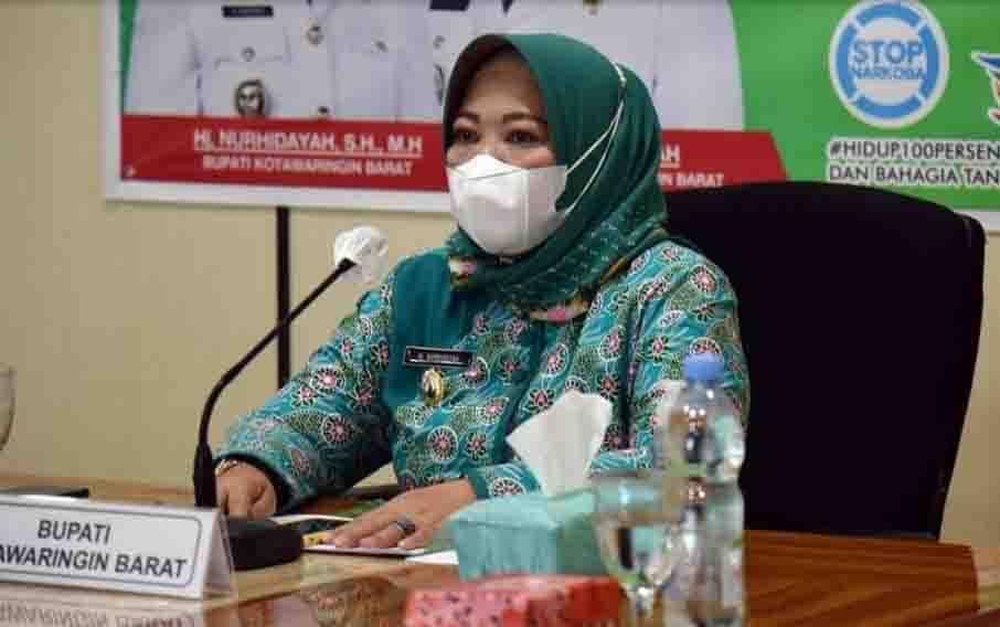Bupati Kobar Nurhidayah memimpin rapat koordinasi penyelenggaraan Kabupaten Kobat Sehat tahun 2021.