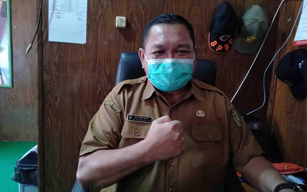 Kepala Pelaksana Badan Penanggulangan Bencana Daerah atau BPBD Kabupaten Katingan, Roby.