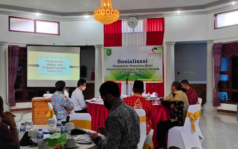 Pertemuan Pemkab Sukamara bersama Bank Kalteng, Kamis, 1 April 2021.