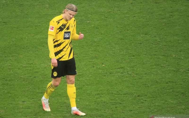Penyerang Borussia Dortmund asal Norwegia, Erling Haaland. (foto : AFP/WOLFGANG RATTAY)