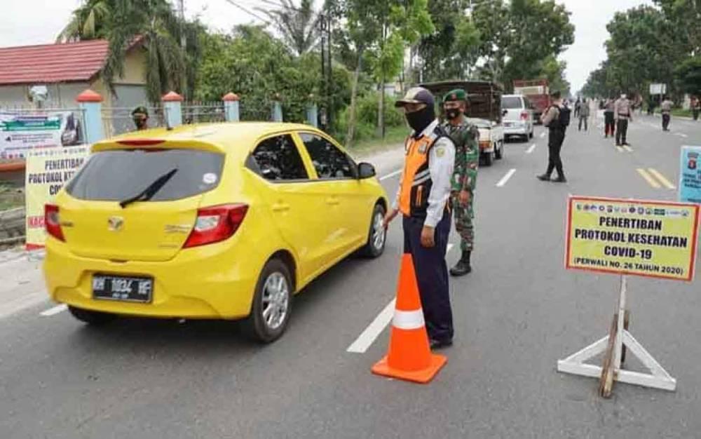 Penerapan pembatasan dan pengecekan prokes di Kota Palangka Raya