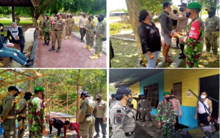 Tim gabungan melakukan patoli sinergitas di aejumlah tempat wilayah Kecamatan Katingan Hilir
