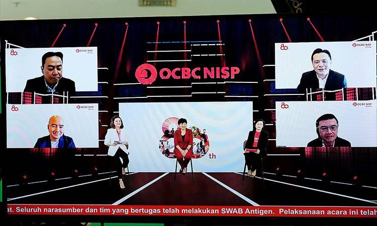 Press conference 80 tahun OCBC NISP secara virtual pada Senin, 12 April 2021.