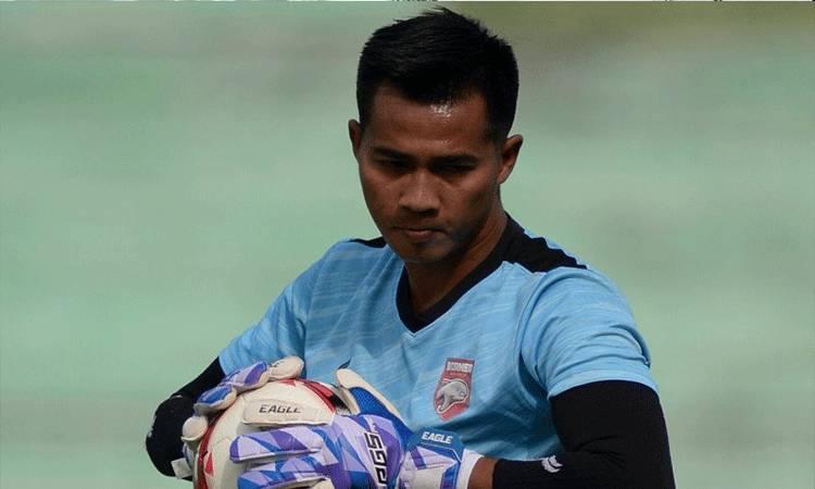 Penjaga gawang Borneo FC Angga Saputro (HO/Borneofc.id)