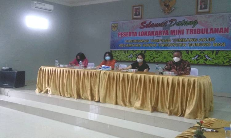 Suasana Lokakarya Mini Puskesmas Tampang Tumbang Anjir.
