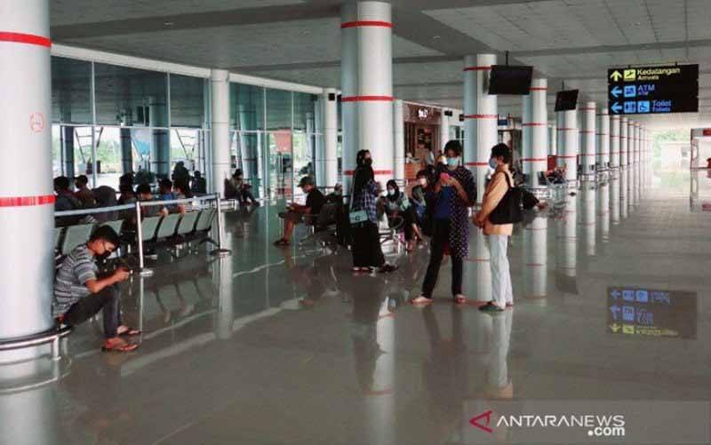 Suasana di terminal Bandara Tjilik Riwut Palangka Raya. (foto : ANTARA/Muhammad Arif Hidayat)