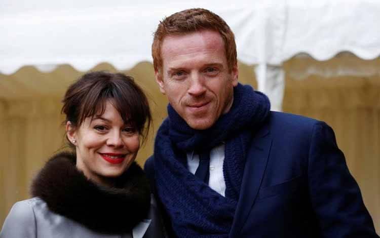 Damian Lewis dan Helen McCrory pada 4 April 2013