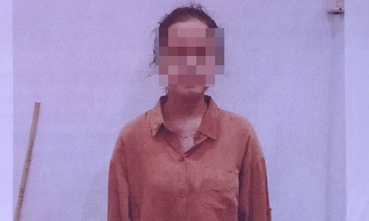Rusmalinda, terduga tersangka kasus penggelapan.