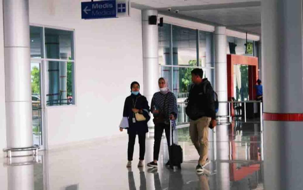 Traveler saat di Bandara Tjilik Riwut Palangka Raya