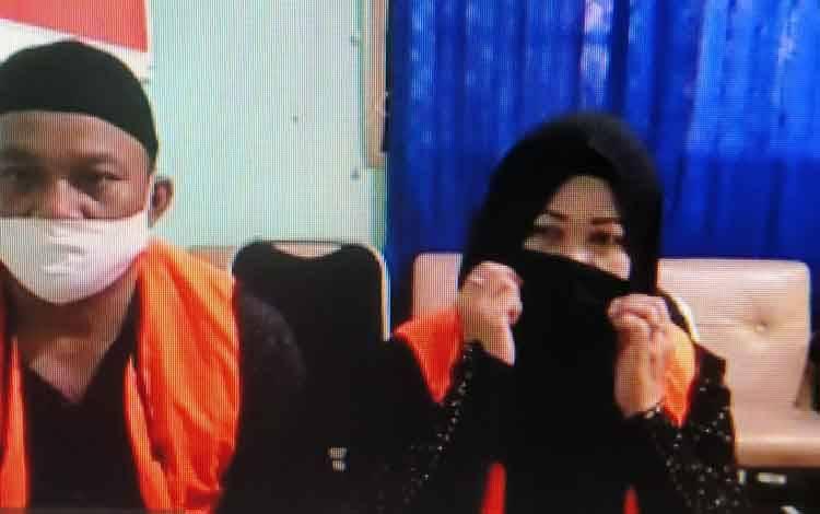 Surya Effendi alias Sur dan istrinya Rahmatul alias Atul tersangka Sabu.