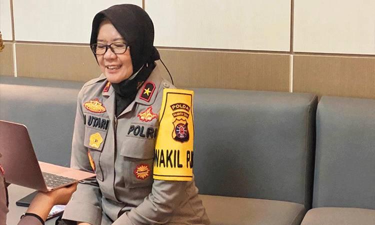 Wakalpolda Kalteng Brigjen Pol Ida Oetari Poernamasasi saat menjadi narasumber dalam kegiatan webiner.