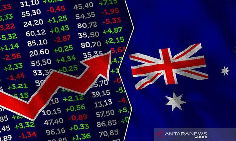 Ilustrasi - Pasar Saham, Bursa Efek dengan bendera Australia.ANTARA/Shutterstock/pri (Shutterstock)