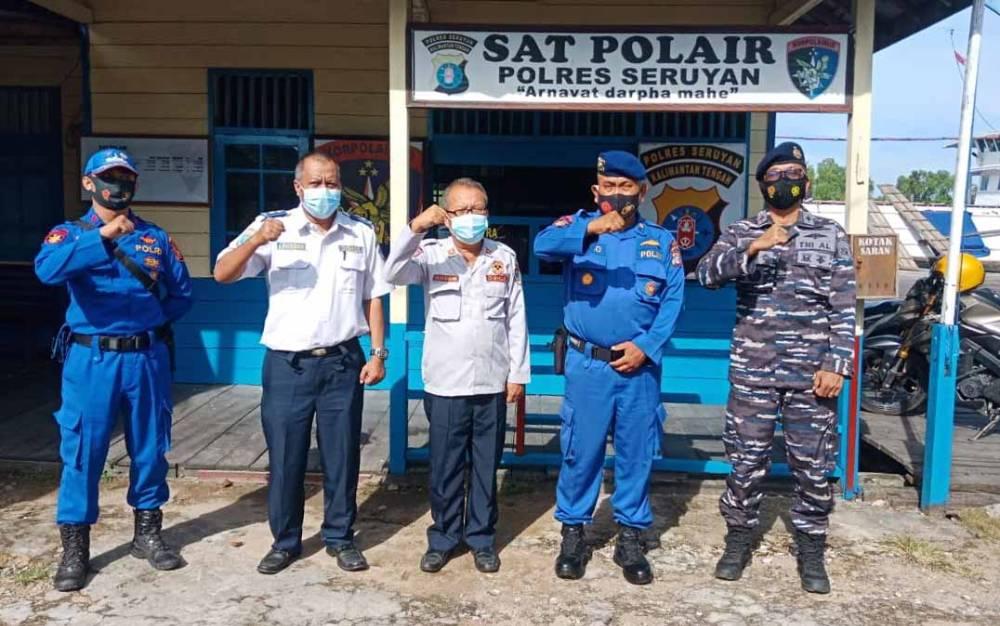 Satpolairud Polres Seruyan bersama insntasi terkait membahas persiapan operasi ketupat, Selasa, 4 Mei 2021.