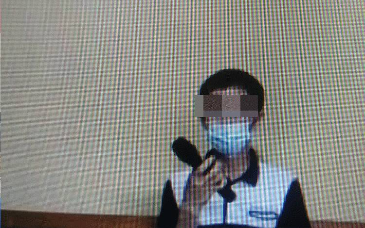 Asmuni Kasanov alias Utuh terdakwa kasus Sabu.