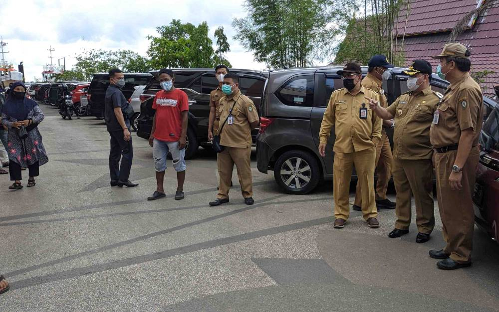 Bupati Kotim Halikinnor saat mengunjungi PPM Sampit