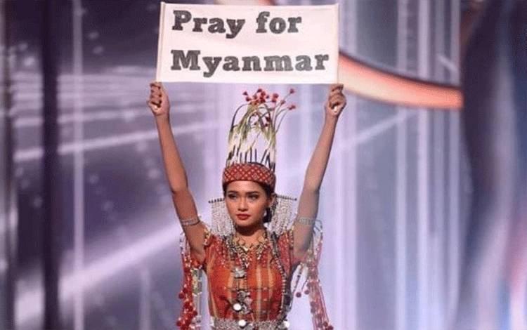 Kontestan Miss Universe 2020 asal Myanmar, Ma Thuzar Wint Lwin