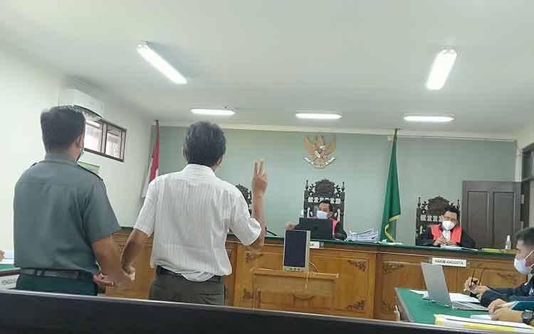 Sidang gugatan perdata yang diajukan M Abdul Fatah (penggugat) kepada Balai Pengamanan dan Penegakan Hukum Lingkungan Hidup dan Kehutanan Wilayah Kalimantan Seksi Wilayah I Palangka Raya (tergugat).