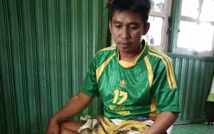 Keterangan foto : Korban serangan buaya di Desa Sungai Paring.