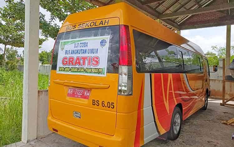 Bus angkutan umum gratis yang akan diujicoba oleh Dinas Perhubungan Kabupaten Barito Timur