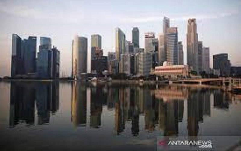 Pemandangan gedung-gedung pencakar langit di Singapura. (foto : ANTARA/REUTERS/Edgar Su/aa.)