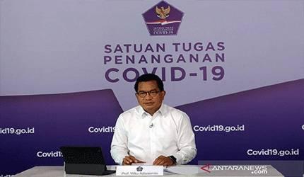 Juru Bicara Satuan Tugas Penanganan COVID-19 Prof Wiku Adisasmito saat menyampaikan keterangan kepada wartawan di Graha BNPB, Jakarta, Rabu (9/6/2021). (ANTARA/HO-Satgas COVID-19/am)