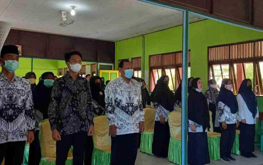 Sejumlah guru saat mengikuti workshop pemanfaatan akun belajar dan bimtek guru berprestasi.