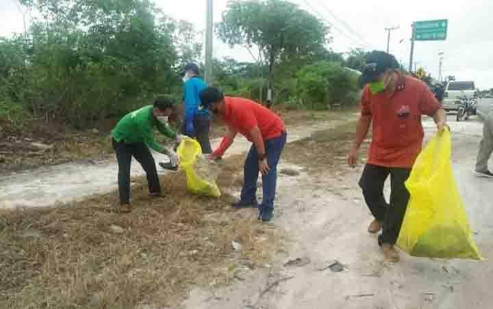 Wakil Bupati Sunardi Litang dan Kepala DLH Hap Bapperdo ikut aksi pungut sampah