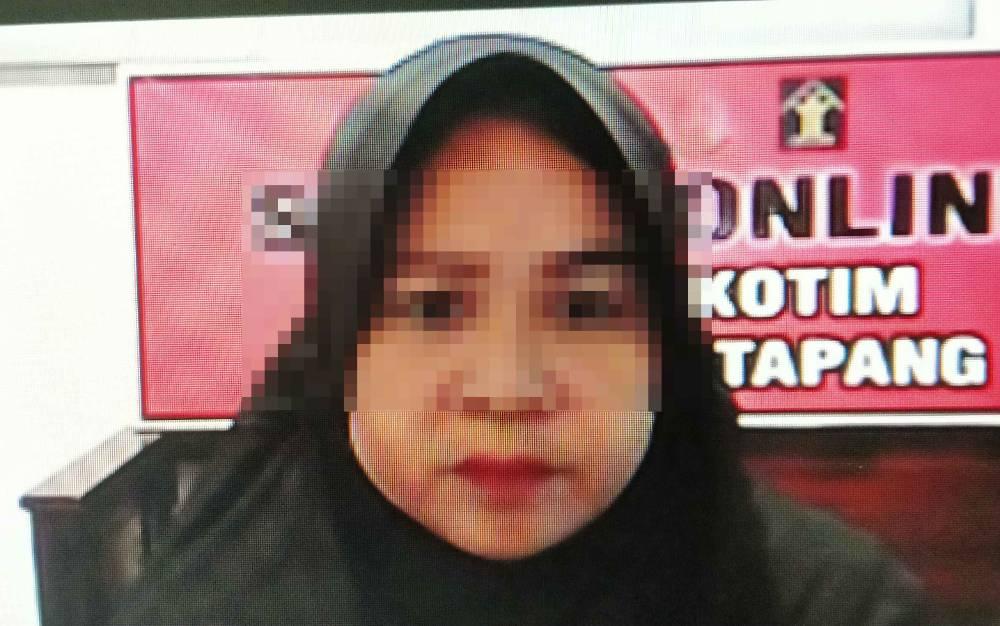 Terdakwa kasus sabu, Saidah alias Dadah.