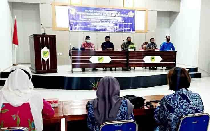 Rapat koordinasi pimpinan yang dilaksanakan Pemerintah Kecamatan Teweh Tengah bersama Karang Taruna Kabupaten Barito Utara, Kamit15 Juli 2021