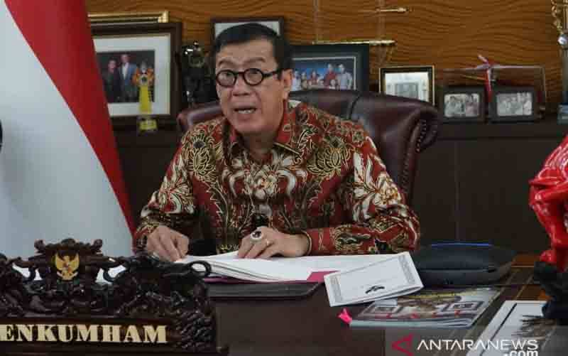 Menteri Hukum dan Hak Asasi Manusia Yasonna Laoly