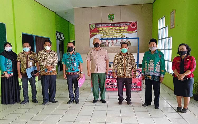 BPBD Damkar, Kantor Kementerian Agama dan Dinas Pendidikan Barito Timur usai pembahasan PTM terbatas.