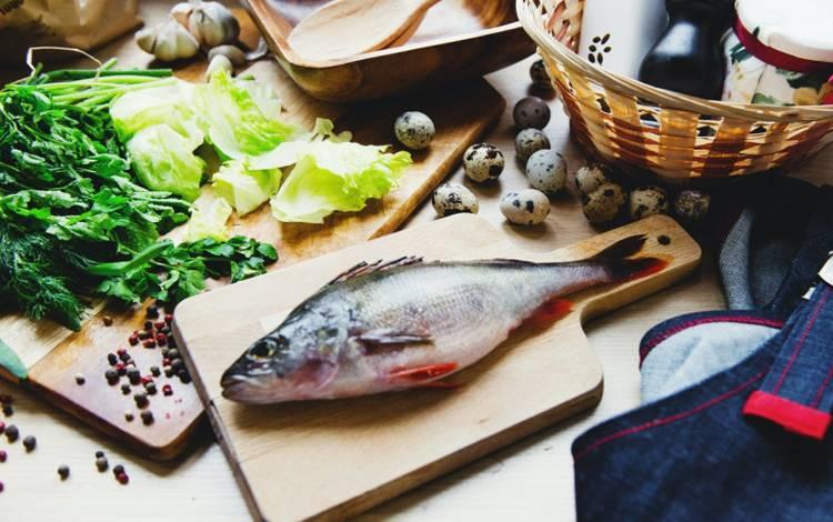 Menu makanan dan sayur mayur