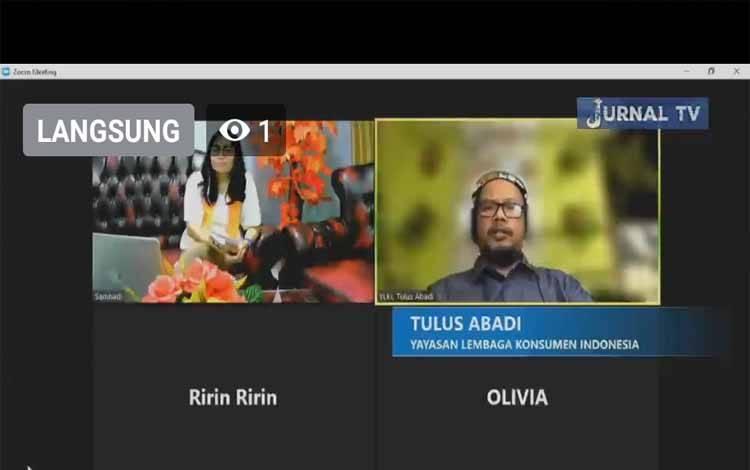 Wawancara Ketua YLKI Tulus Abadi bersama Jurnal TV, Jumat 23 Juli 2021