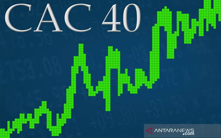 Ilusterasi indeks pasar saham Prancis CAC 40 naik. ANTARA/Shutterstocks/pri.