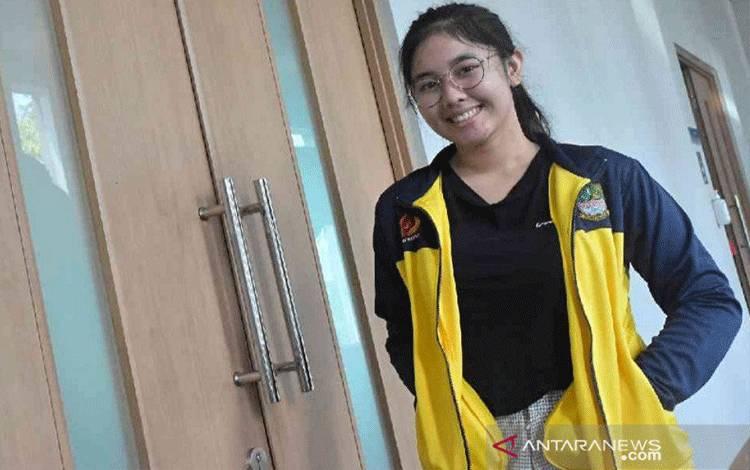 Vidya Rafika Rahmatan Toyyiba (19) atlet menembak peraih tiket Olimpiade Tokyo, Jepang 2021. (Foto: Pradita Kurniawan Syah)