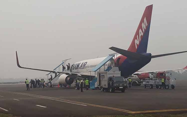 Salah satu maskapai di Bandara Iskandar Pangkalan Bun.