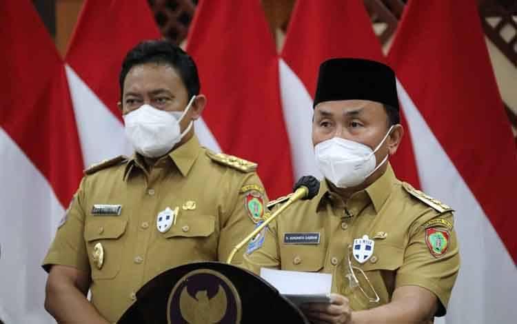 Gubernur Kalteng, Sugianto Sabran dan Wakil Gubernur Kalteng Edy Pratowo