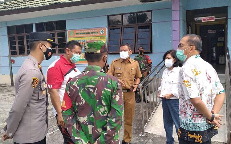 Bupati Pulpis tinjau Crisis Center Kecamatan Banama Tingang, Pulpis.