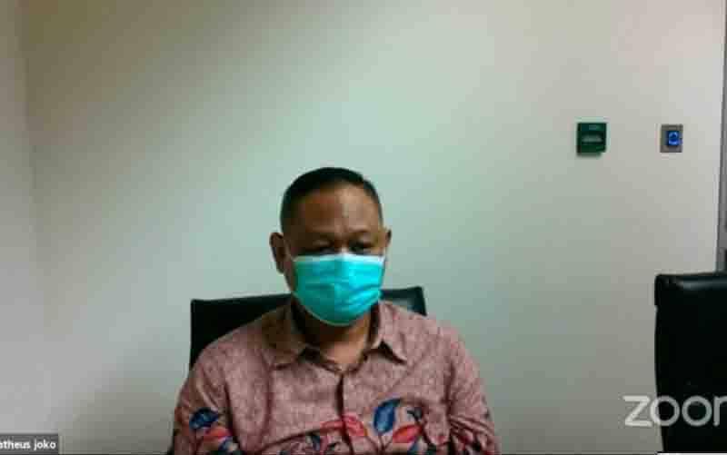 Anak buah mantan Menteri Sosial Juliari P Batubara yaitu Matheus Joko Santoso menjalani sidang pembacaan tuntutan, di Gedung KPK Jakarta, Jumat (13/8/2021). (foto : ANTARA/Desca Lidya Natalia)