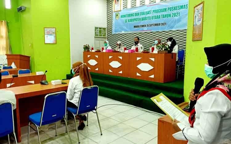 Pertemuan Moitoring dan evaluasi Program Puskesmas se Barito Utara