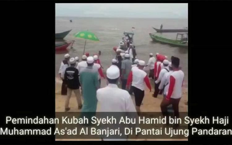 Video Pemindahan Kubah Syekh Abu Hamid di Ujung Pandaran