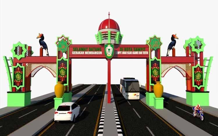 Desain Gerbang Sahati setelah revisi
