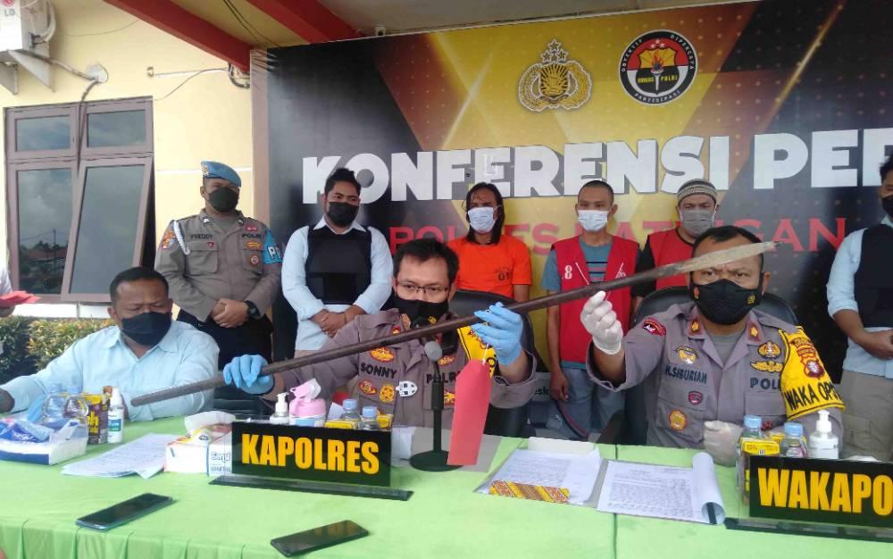 Ekspos kasus sabu dan penganiayaan di Polres Katingan, Selasa, 28 September 2021