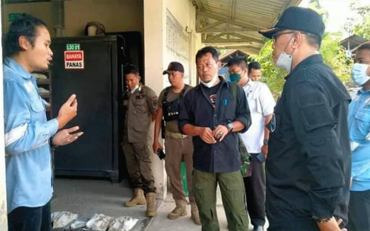 Wakil Bupati Katingan, Sunardi Litang melakukan kunjungan kerja ke PT KBK.