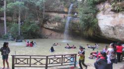 Objek wisata air terjun Batu Mahasur di Kabupaten Gunung Mas.